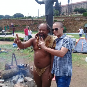 People from the Cape showing support to the Union Buildings